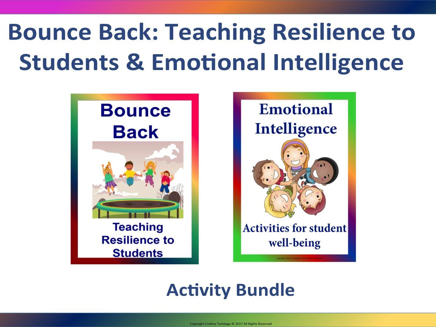 Bounce Back Teaching Resilience Amp Emotional Intelligence