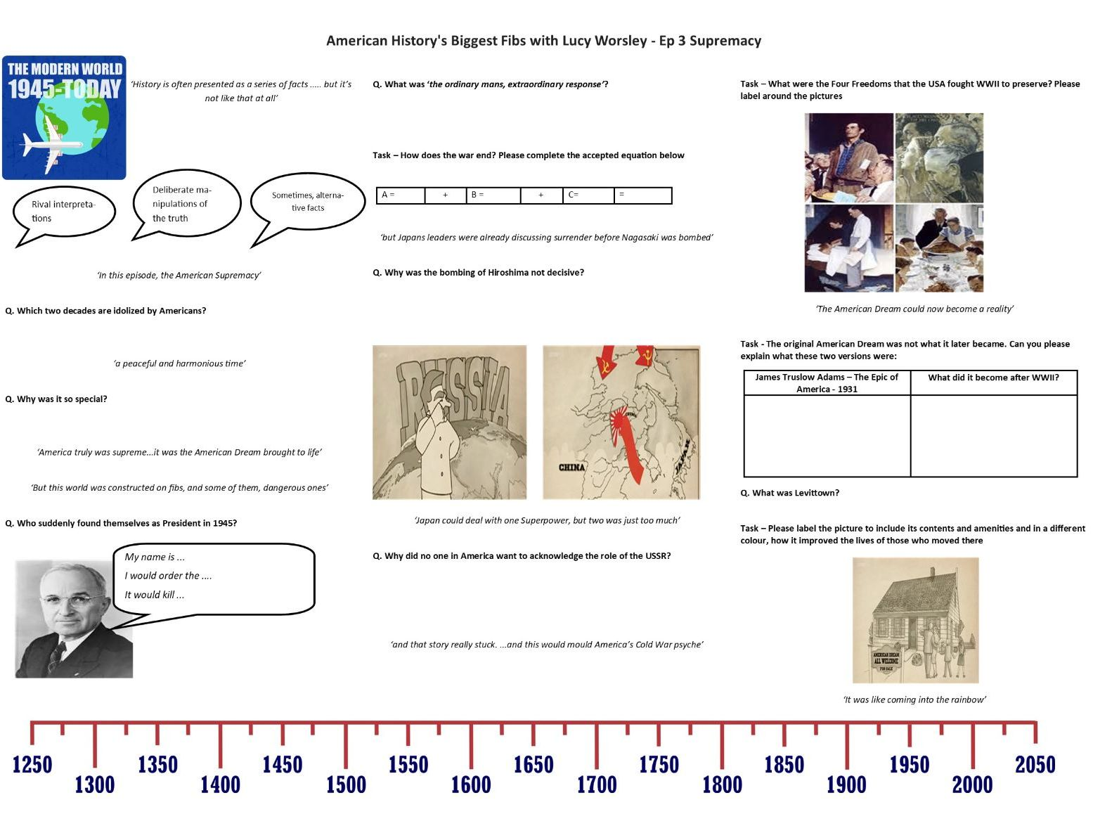 Secondary Contemporary History Present Day Resources