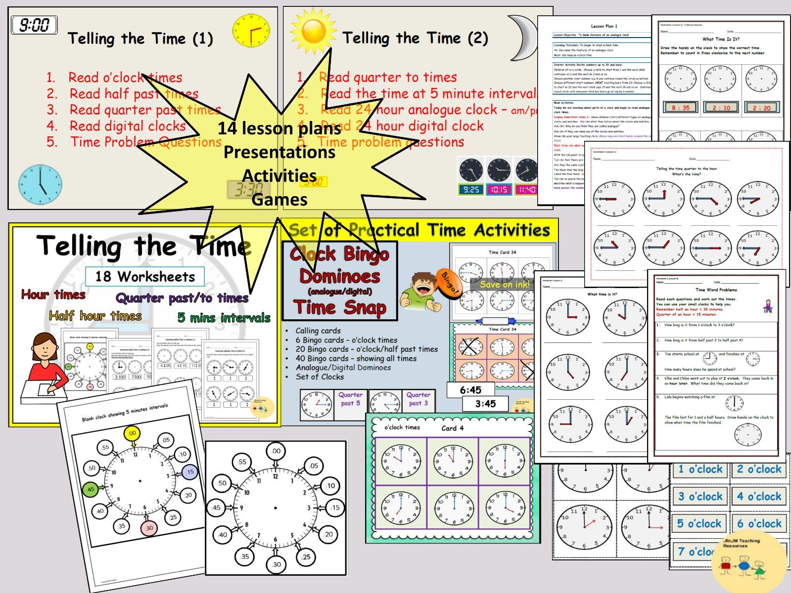 Telling The Time And Clock Time Activities Lesson Plans