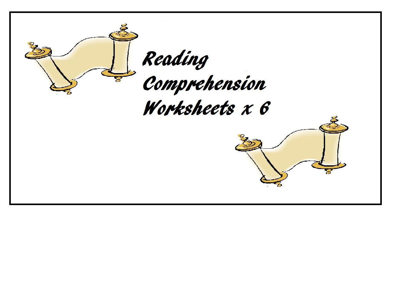 Reading Comprehension Worksheets X 6 60 Off