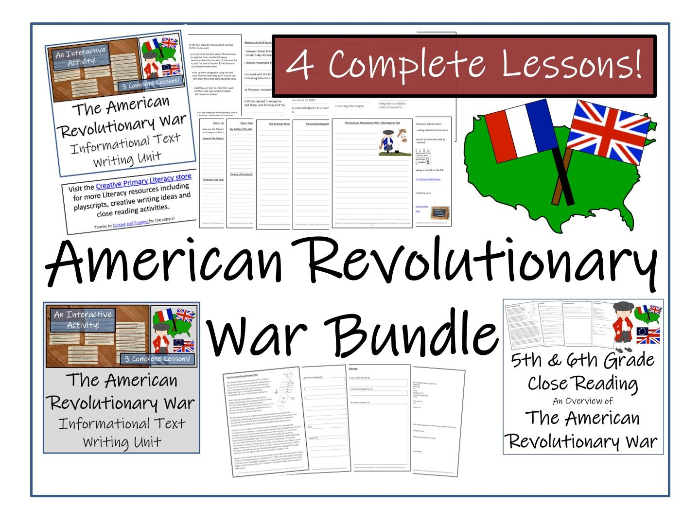 Bundle Of American Revolutionary War Activities By