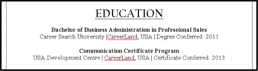 education section of resume example skills section resume general