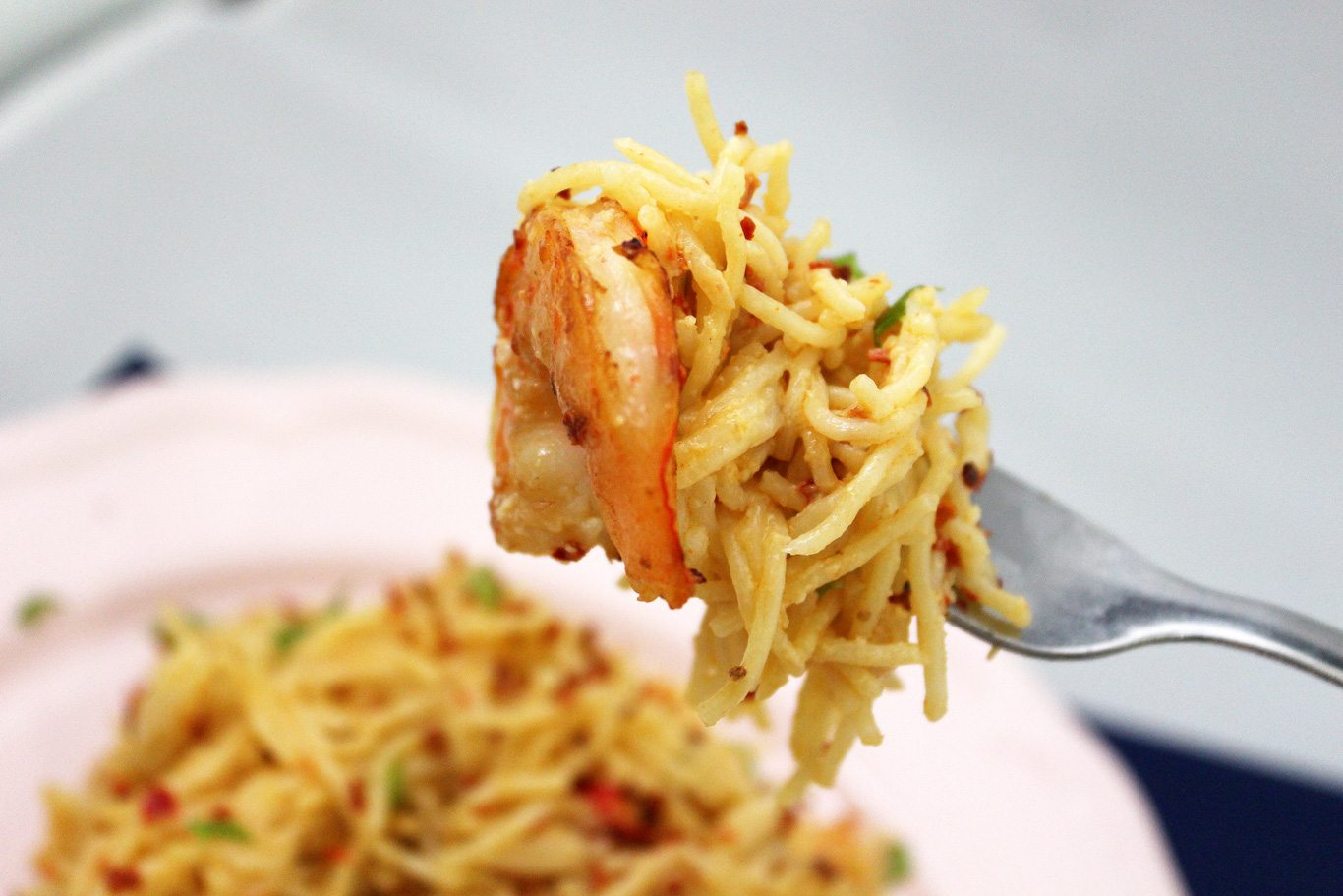 Angel Hair Aglio Olio with Shrimps