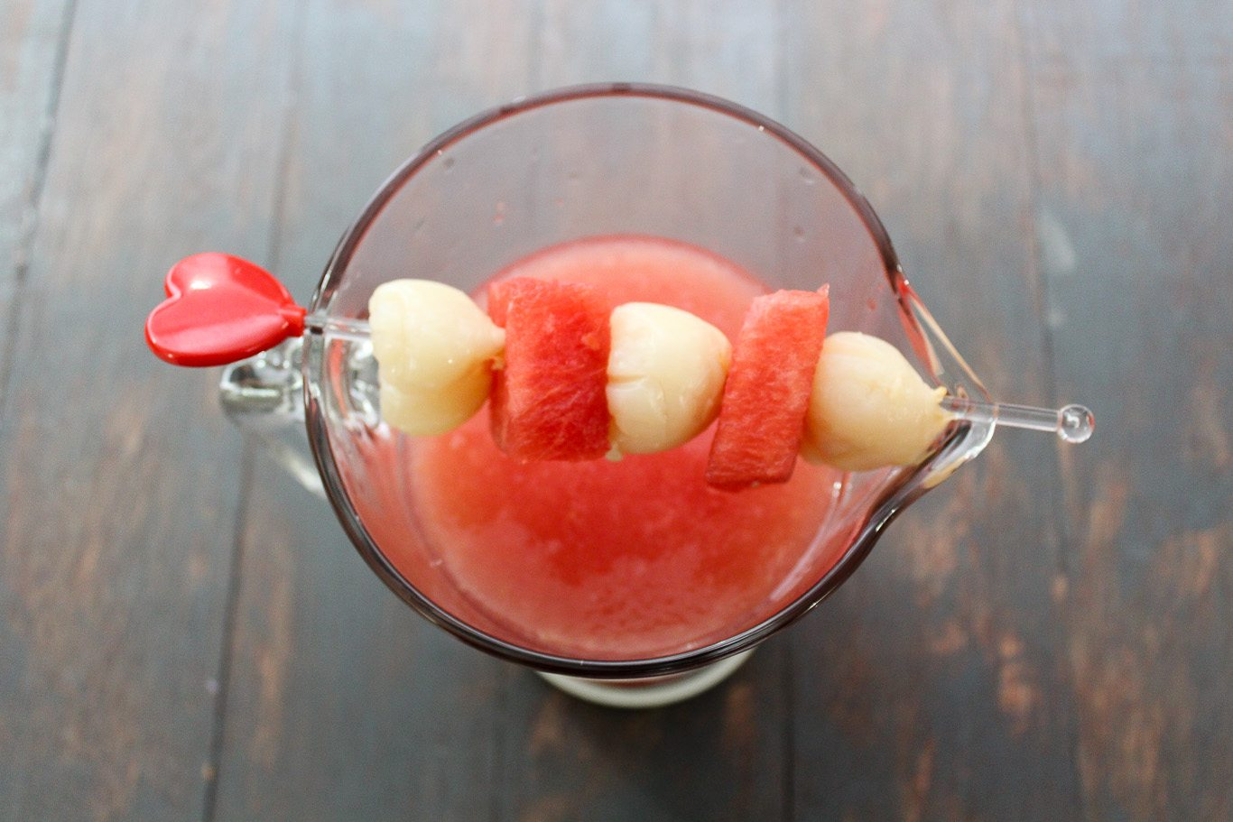 Watermelon and Lychee Mocktail