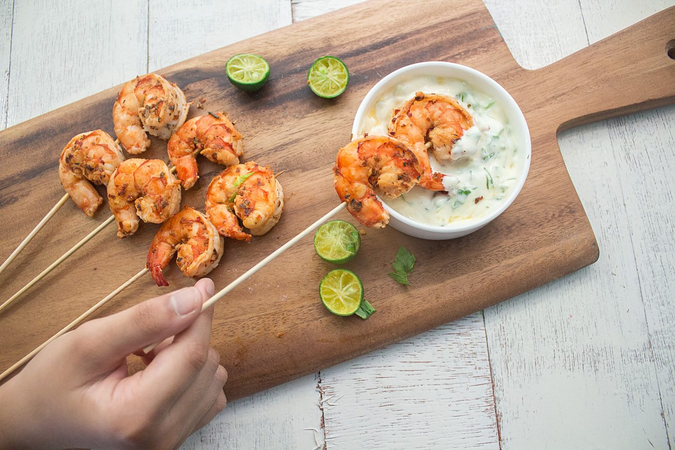 Barbecued Garlic and Chilli Prawns