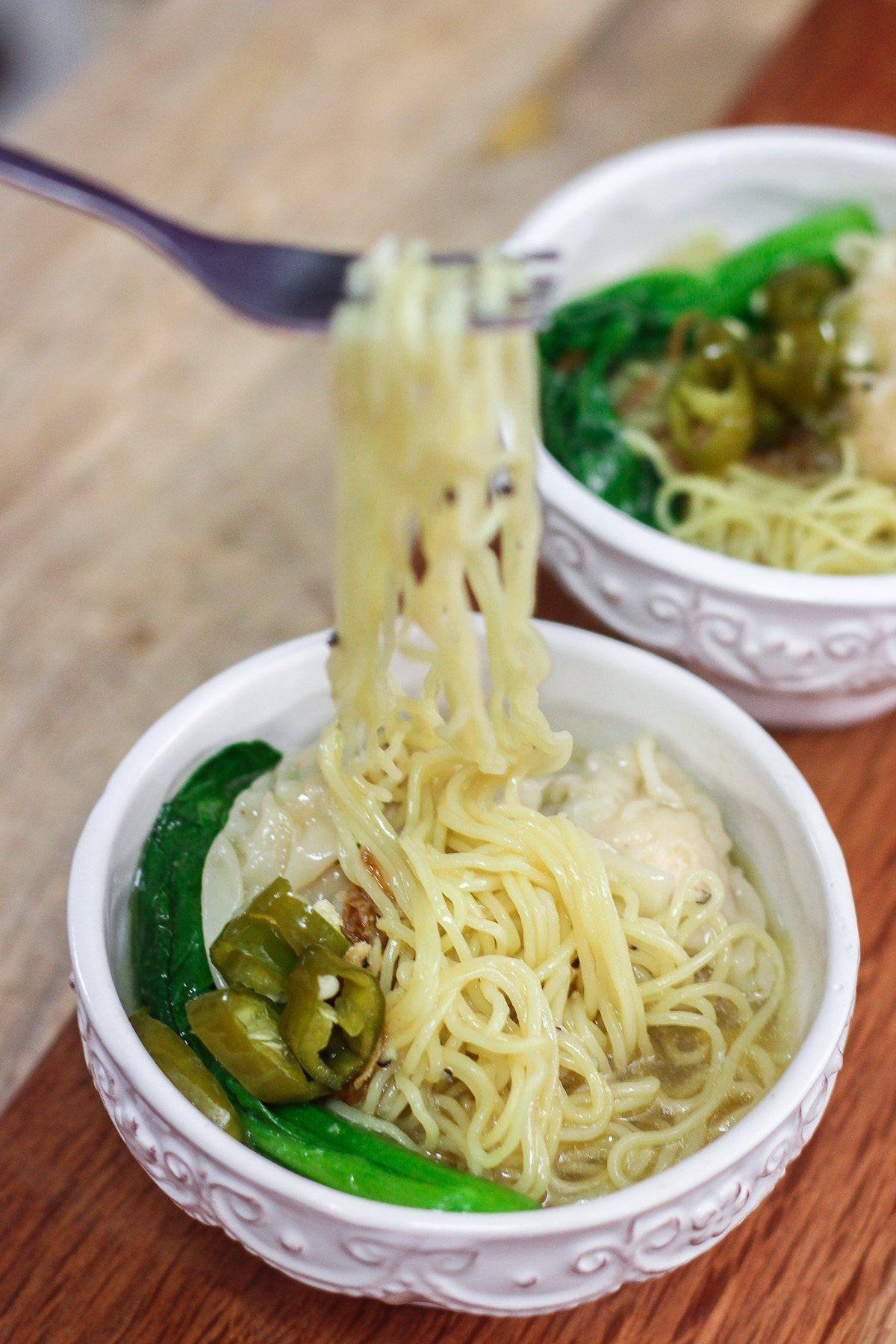 Wonton Noodle Soup - Maya Kitchenette