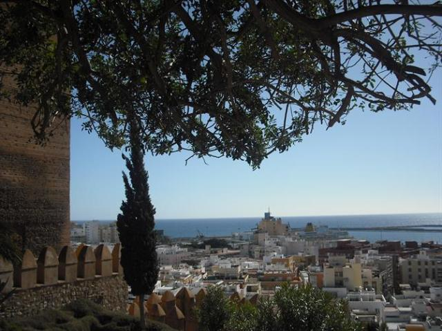 View over Almeria city and harbour