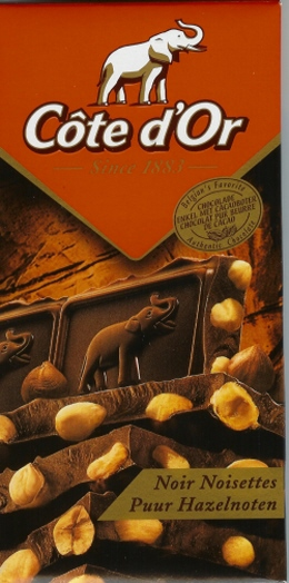 cote d or tablet fondant bitter noir black chocolat with whole hazelnuts 2