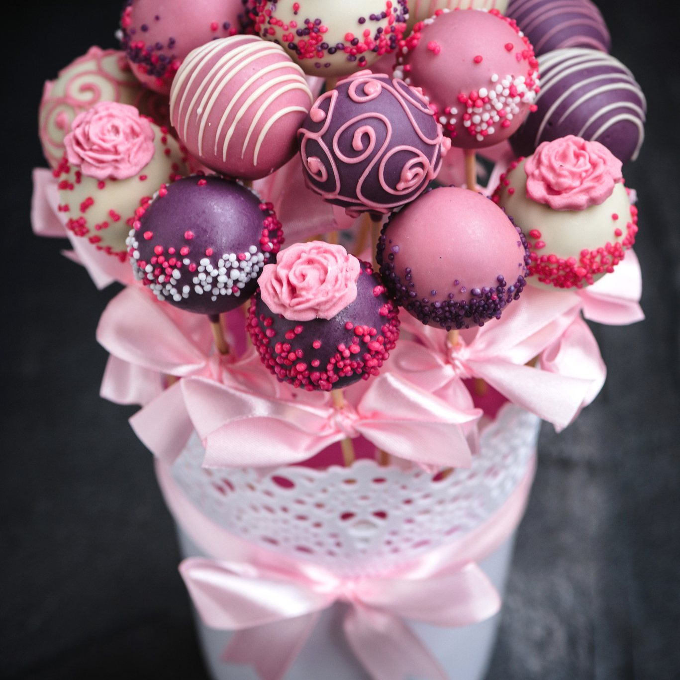 Cake Pop Bouquet Diy