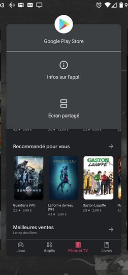android appli partage
