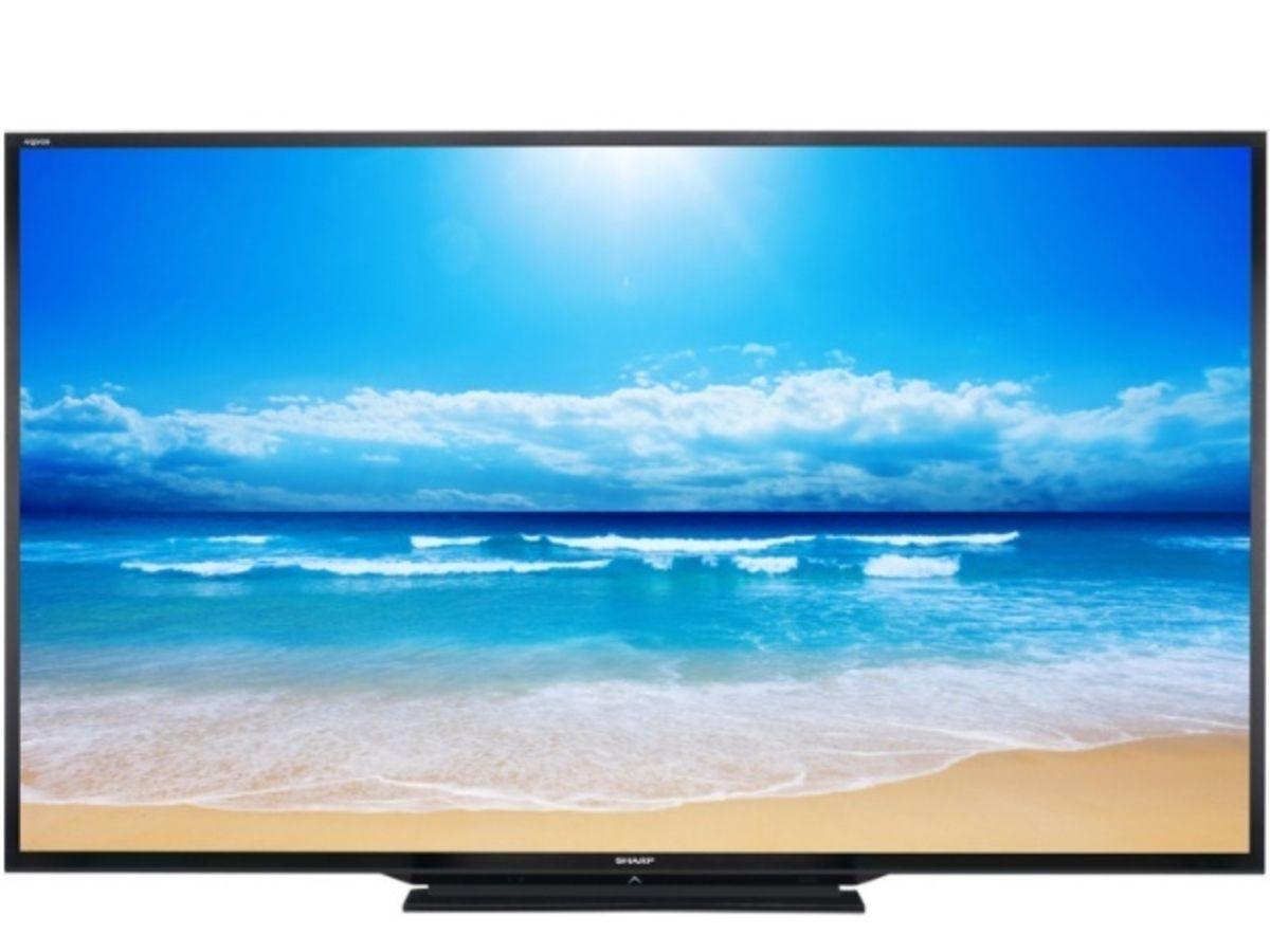 tv sharp commercialise le plus grand