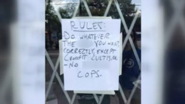 Atlanta gym posts sign that reads 'no f–king cops'