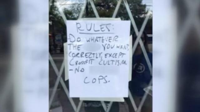 Atlanta gym posts sign that reads 'no f–king cops' news No Cops