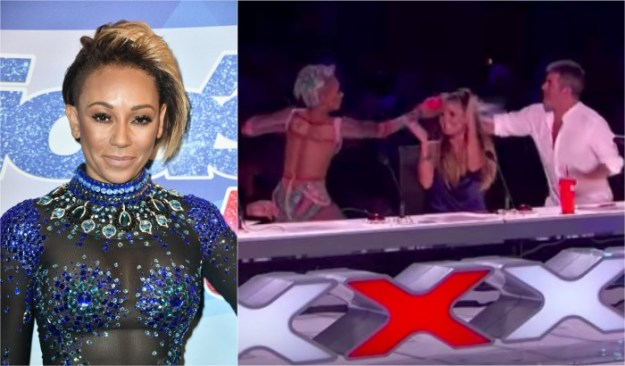 Mel B throws water at Simon Cowell over joke about failed marriage entertainment mel b agt