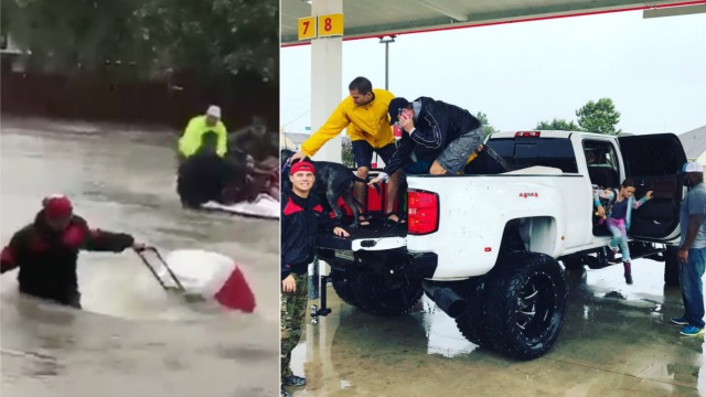Black MMA fighter saves Houston flood victims, including man who insisted he save his Confederate flag news Derrick Lewis MMA