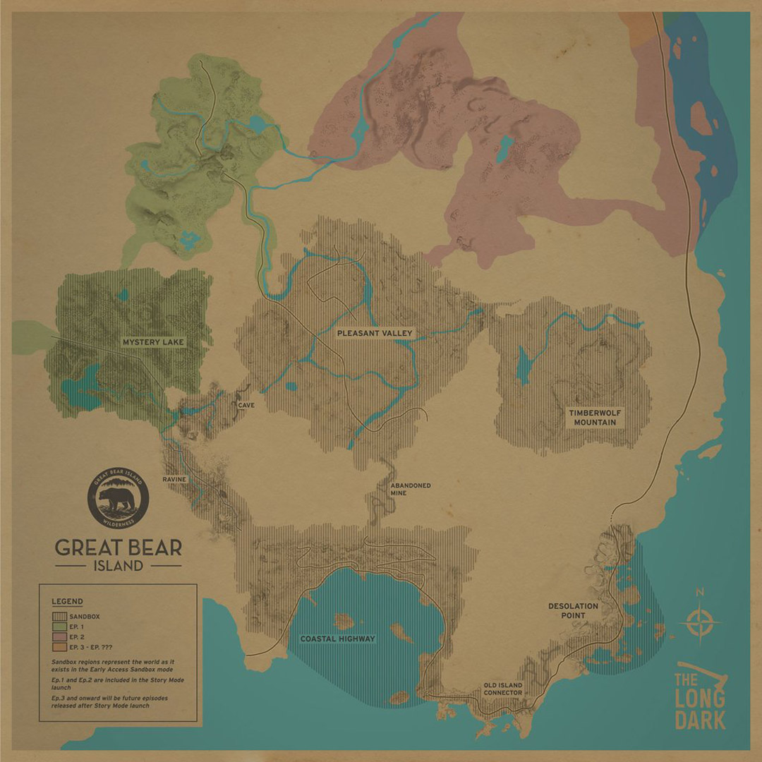 The Long Dark   All Region Maps   AllGamers Forlorn Muskeg hasn t been added  and it looks like there s room for another