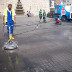 High pressure surface cleaning