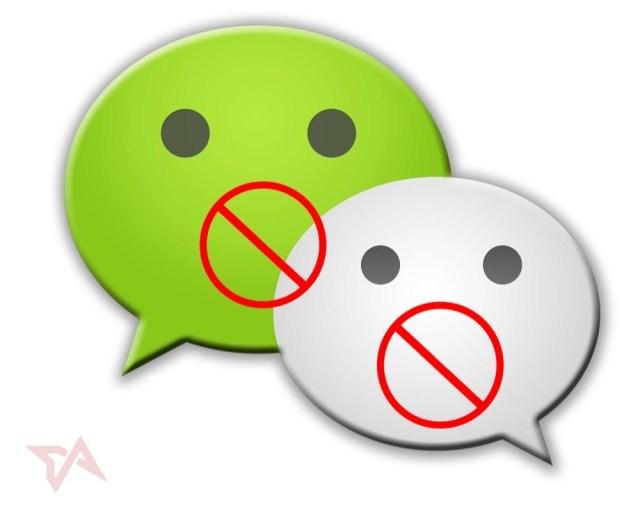 WeChat censoring posts