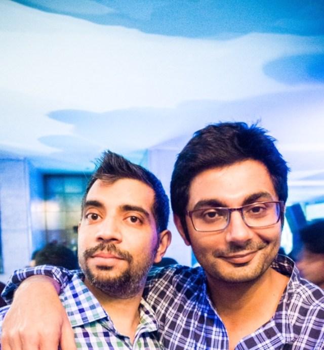 Coverfox founders Devendra Rane and Varun Dua