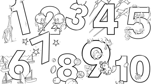 Coloring Pages With Numbers 1 10. http pic2fly com coloring pages ...