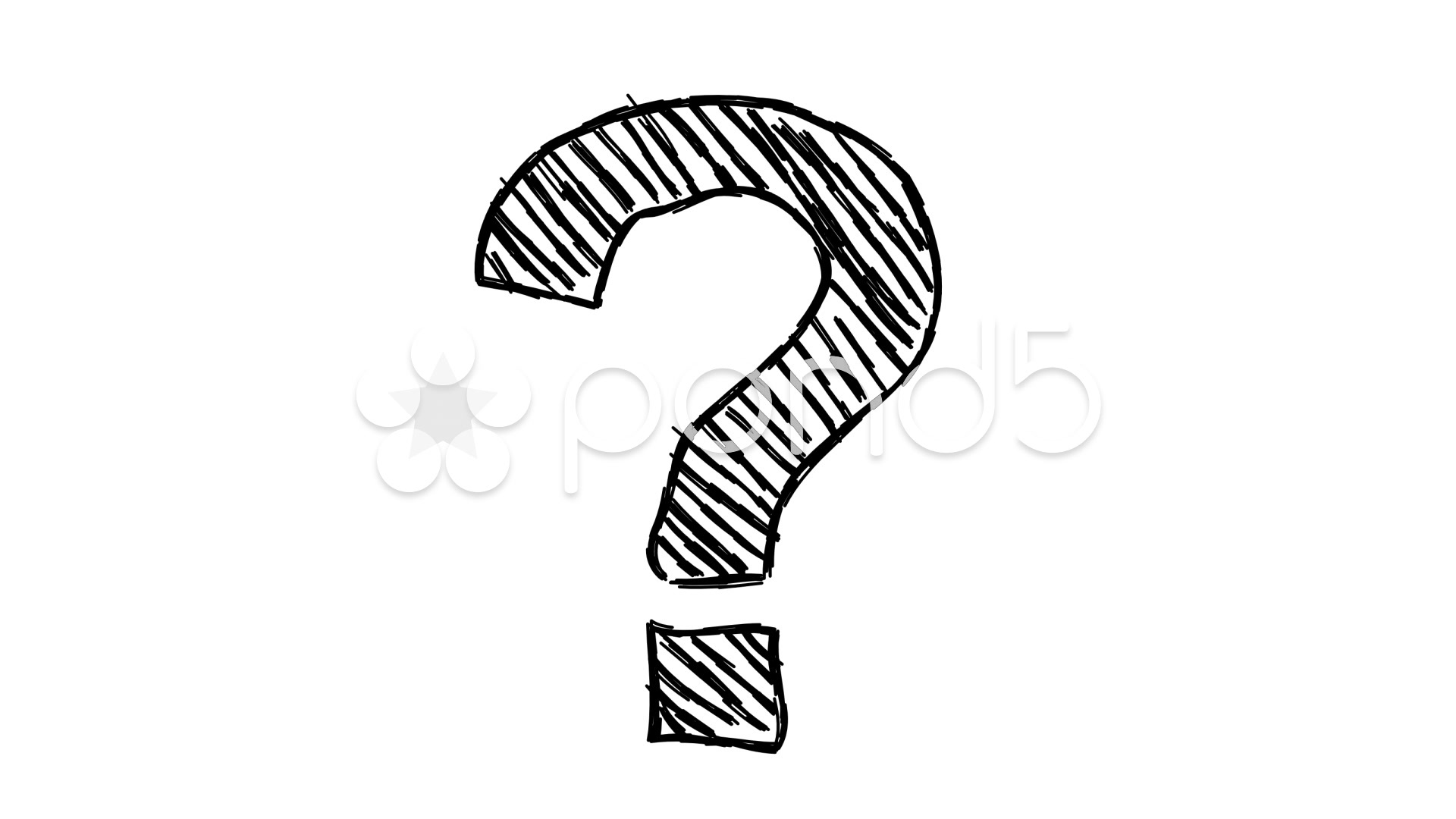 Video Animated Cartoon Doodle Question Mark
