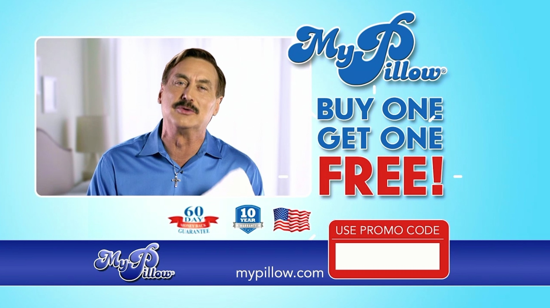 my pillow ad touts buy one get one free deal