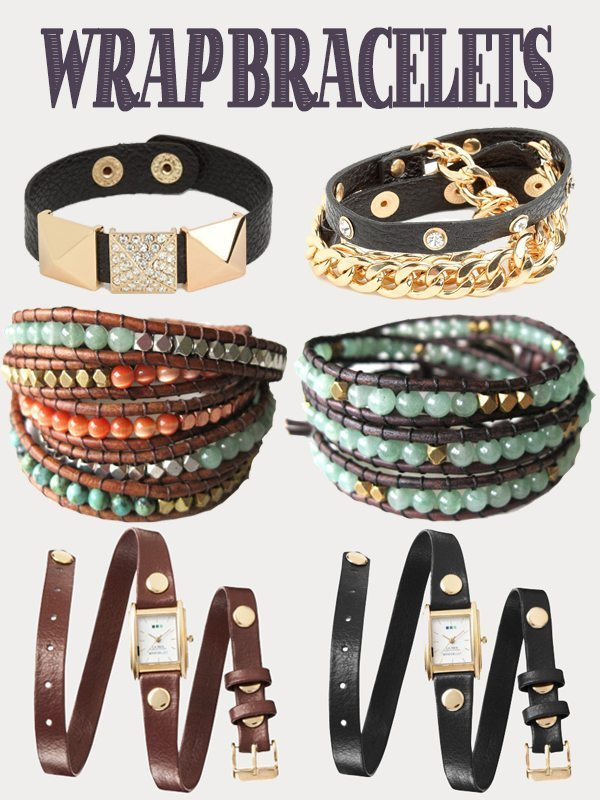 Wrap Bracelets from Target, Etsy and Bauble Bar