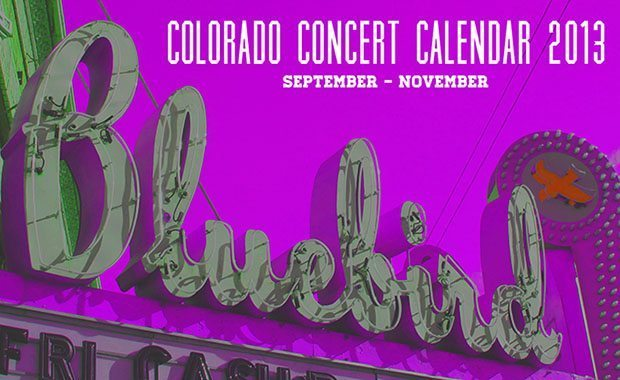 Fall Concert Calendar