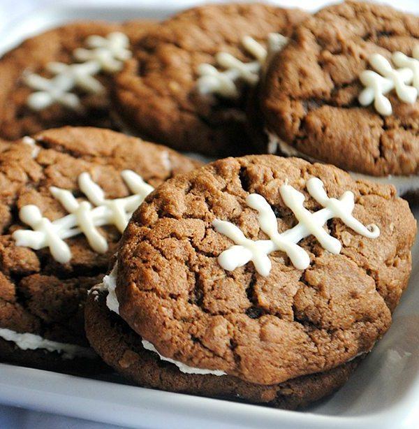 Chocolate Oatmeal Football Cream Pie | Shugary Sweets