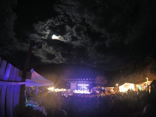 Statebridge Night shot Beanstalk Festival 2015