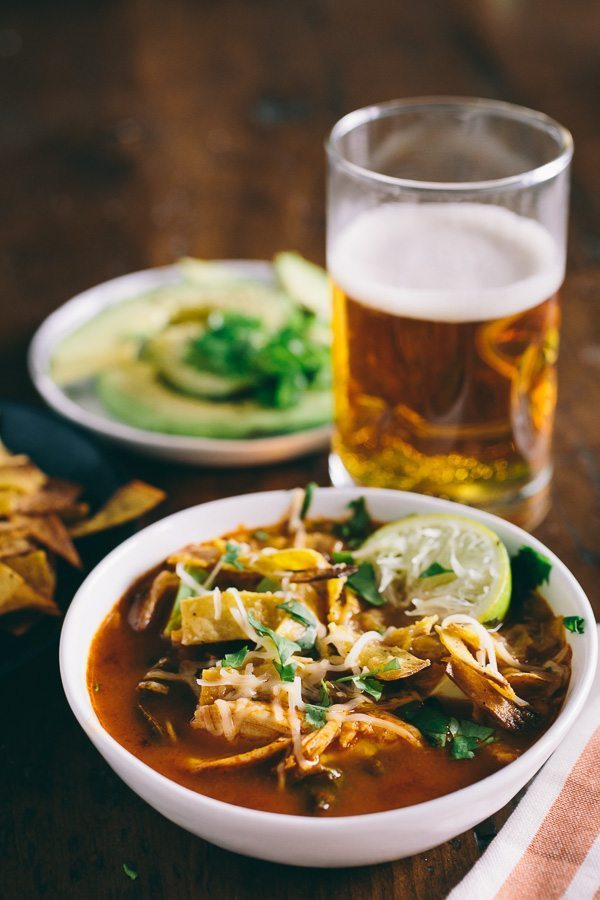 8 Winter Soups | Chicken and Chard Tortilla Soup by Nutmeg Nanny