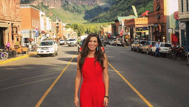 Red Black Halo Jumpsuit in Telluride, CO