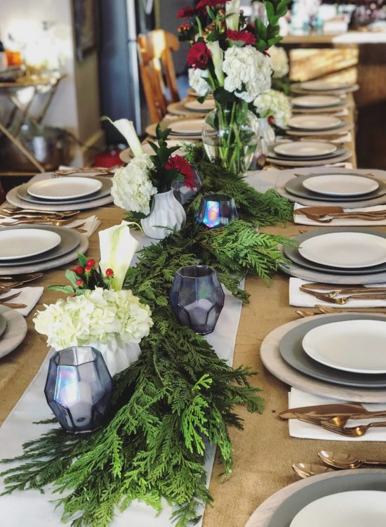 Cloth + Gold - Rental Tablescapes in Colorado. Friendsgiving tablescape
