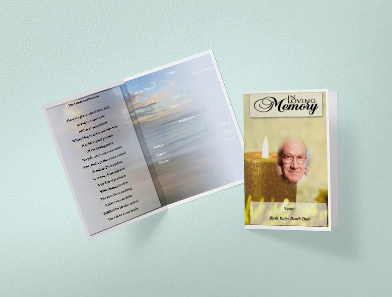 Free Funeral Program Template Funeral Programs Templates