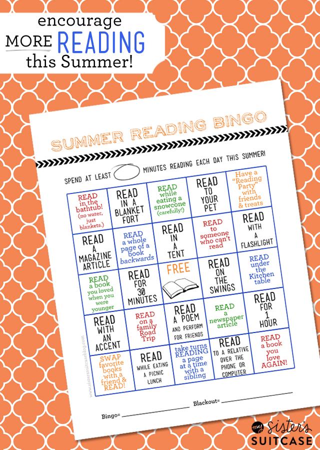 Free Summer Reading Bingo Card Printable 247 Moms