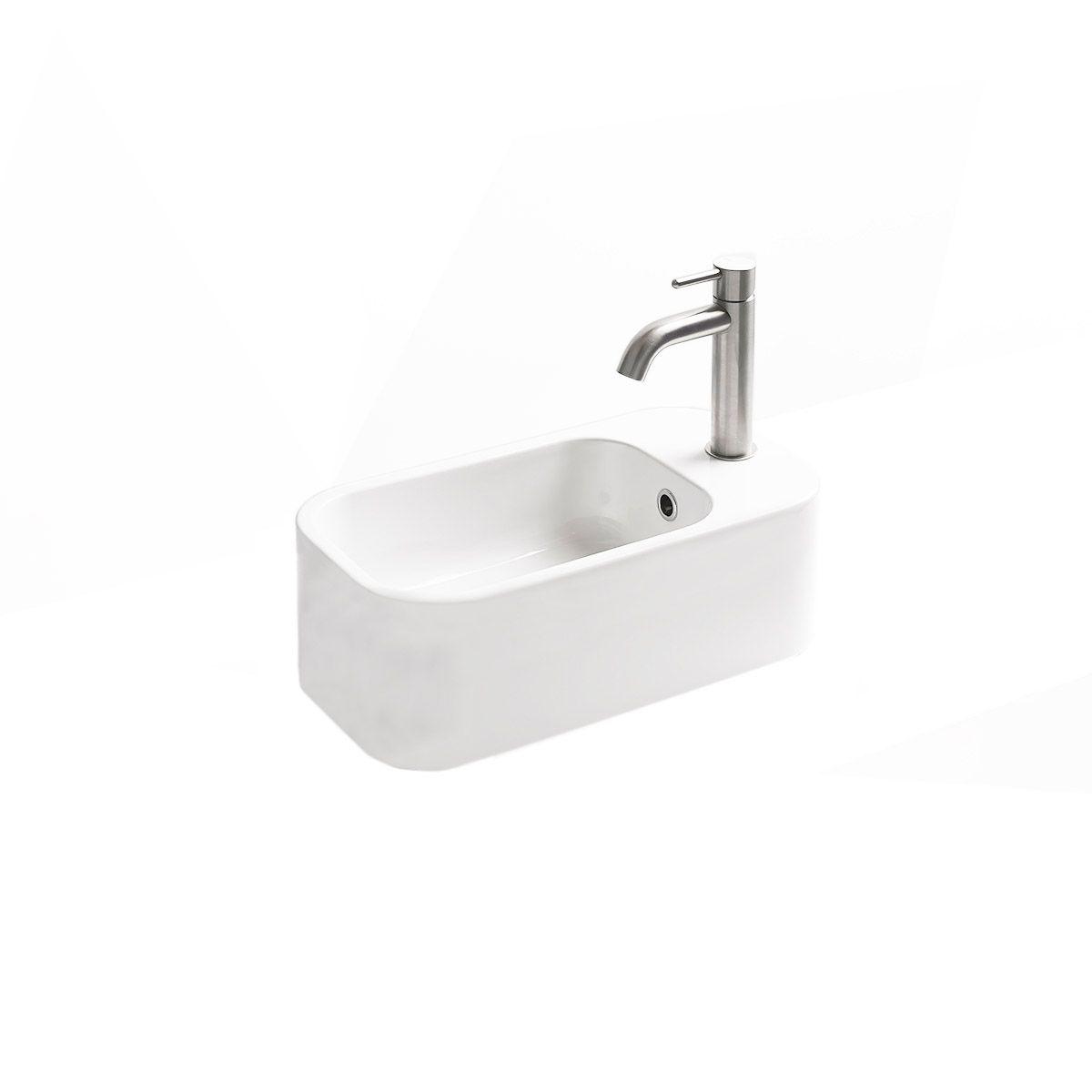 ws bath collections cosa mini 48f small wall mounted vessel bathroom sink 18 9