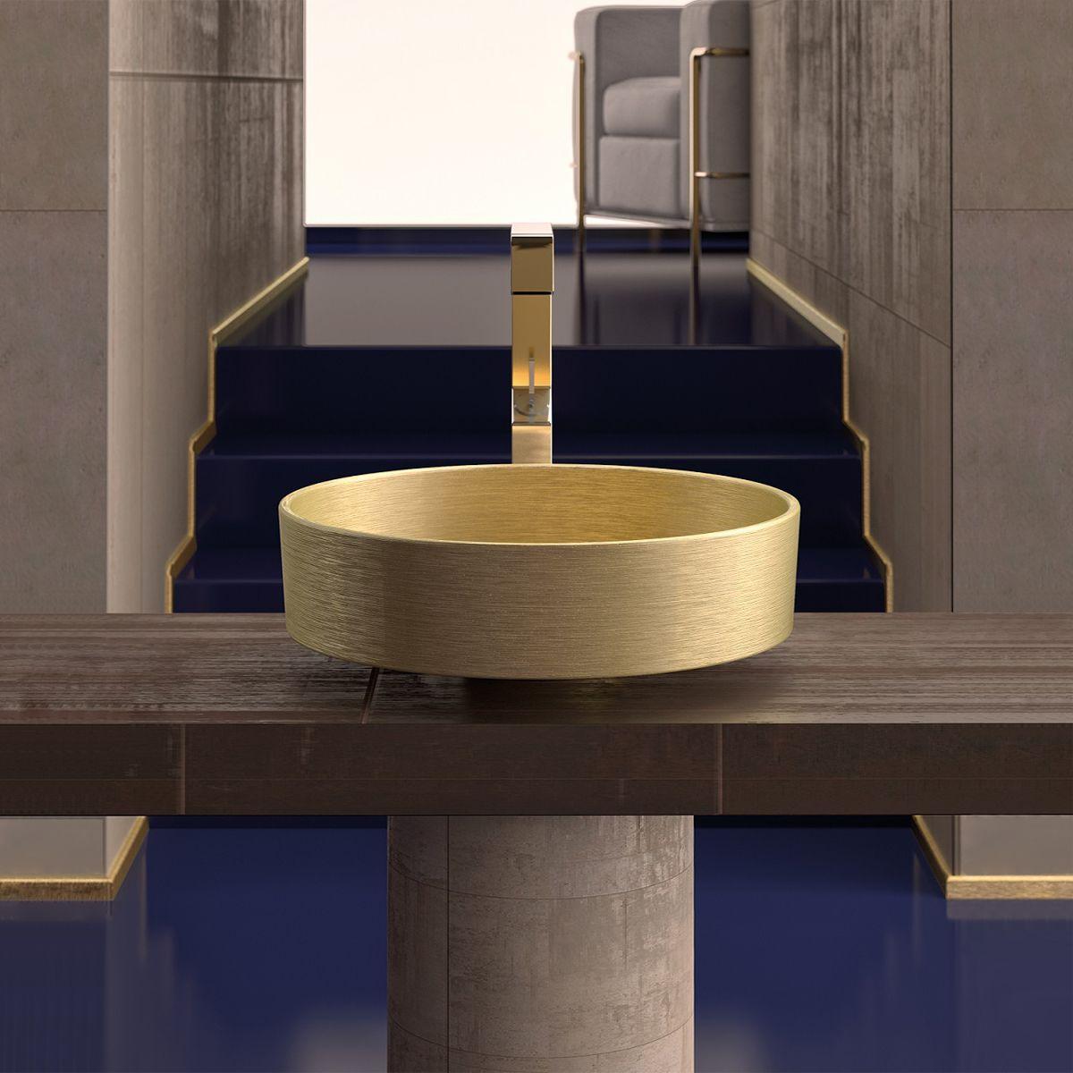 ws bath collections rho metal vessel bathroom sink in gold 16 1