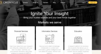 cronycle home page
