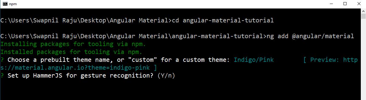 HammerJS - Angular Material - Edureka