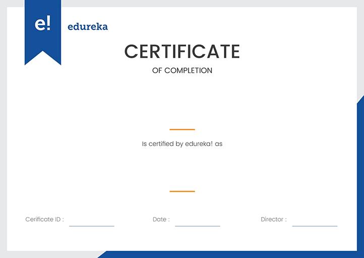 Edureka Digital Marketing Course Review - Certificate