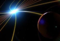 El viento solar puede haber ayudado a Marte tira de su atmósfera a lo largo de muchos cientos de millones de años (NASA)