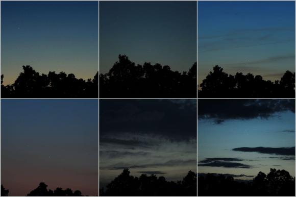 Una secuencia de 6 consecutivos Júpiter-Venus-Mercurio conjunción fotos tomadas el 23 de mayo - 28, 2013.  Crédito y copyright: Joe Shuster.