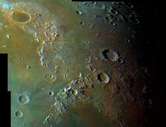 Platón a Aristillus a Aristoteles en color - 08/26/13.  Crédito y copyright: Fred Locklear.
