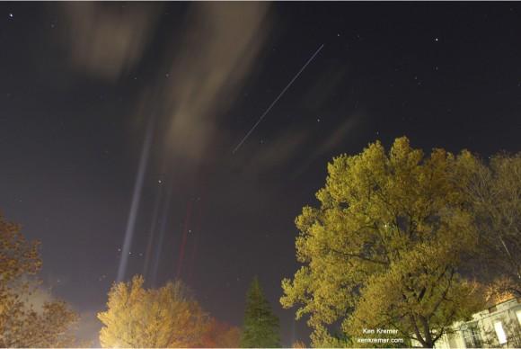 Rayas ISS más de Princeton, NJ - imagen lapso de tiempo.  Crédito: Ken Kremer
