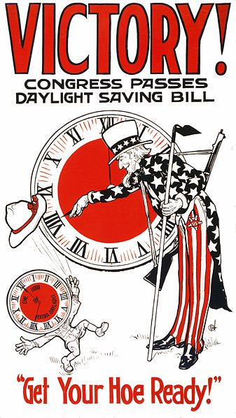1918 Poster espousing the benefits of the first DST shift for the U.S.