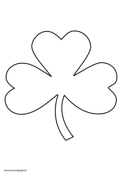 shamrock colouring page to download it just click the pdf