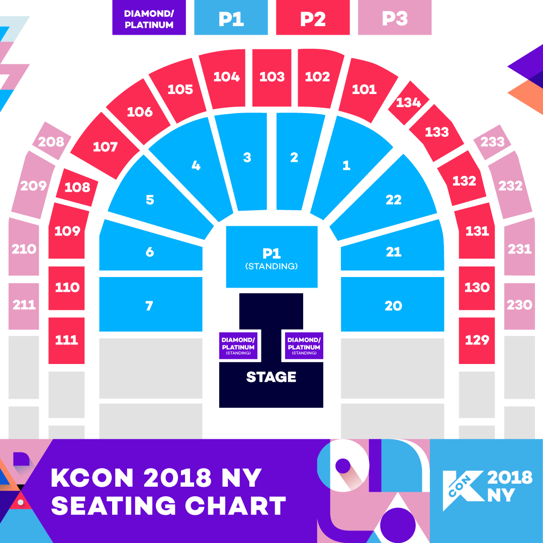 Image result for kcon 2018 ny seating