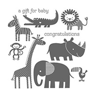 Zoo Babies Clear Stamp Set