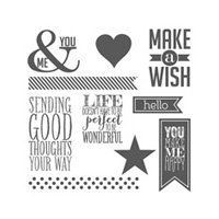 Perfect Pennants Clear Stamp Set
