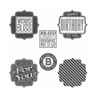 Tag Talk Clear-Mount Stamp Set